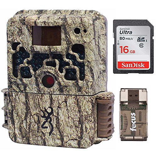 Browning Trail Cameras Strike Force Extreme 16 MP Game Camera + 16GB SD Card + Focus USB Reader