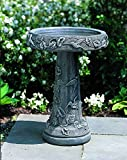 Campania International B-034-AS Hummingbird Birdbath, Alpine Stone Finish