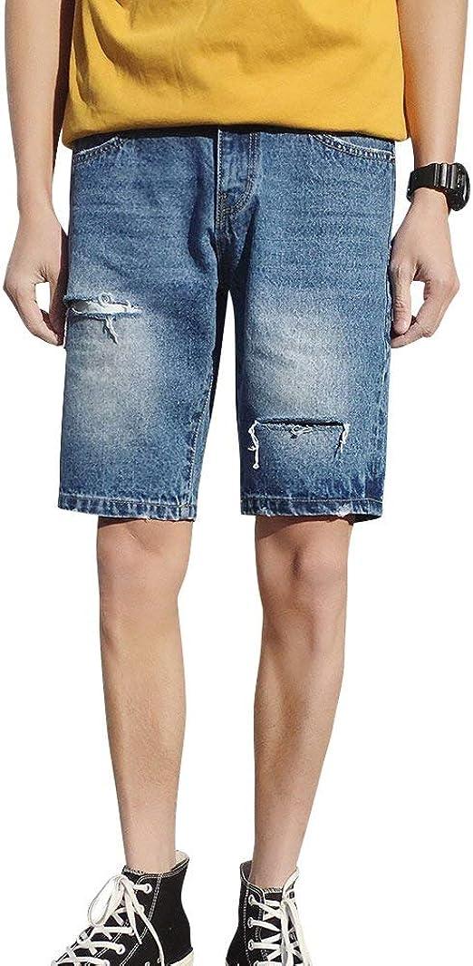Pantalón Corto Joggers Denim Jeans para Hombre Pantalón Corto ...