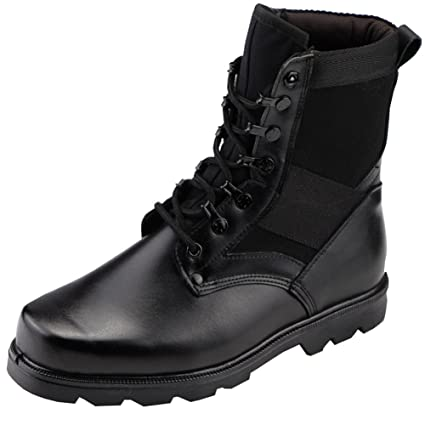 Amazon.com: Aiyuda Men's Military Combat Work Boots Steel Toes ...