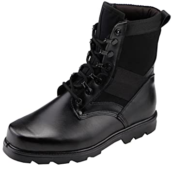 Men's Military Combat Work Boots Steel Toes Waterproof Leather Jungle Duty Winter Ankle Boot Black