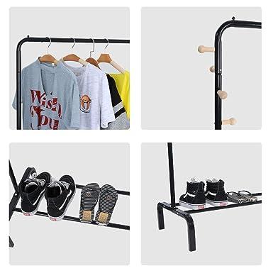 Amazon.com: Perchero de ropa de grado comercial resistente ...