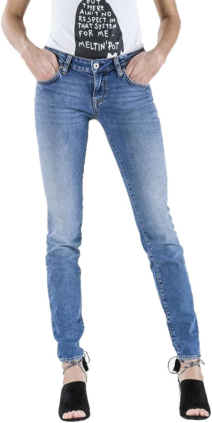 Vita Molto Bassa MeltinPot vestibilit/à Push up Jeans Monie per Donna