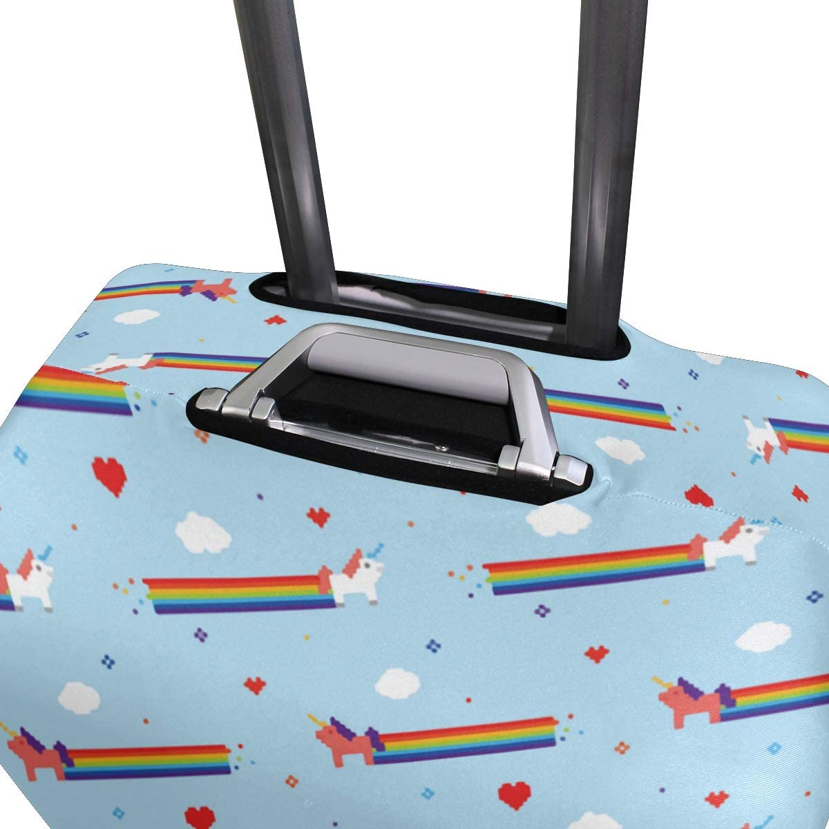 A Unicorn That Can Put Rainbow Gas Travel Suitcase Protector Zipper Suitcase Cover Elastic