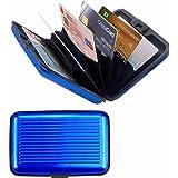 Porte-Cartes *BLEU* Carte Bleue CB Visite Aluminium Rigide Secutity Credit Card Wallet Holder *BLEU*