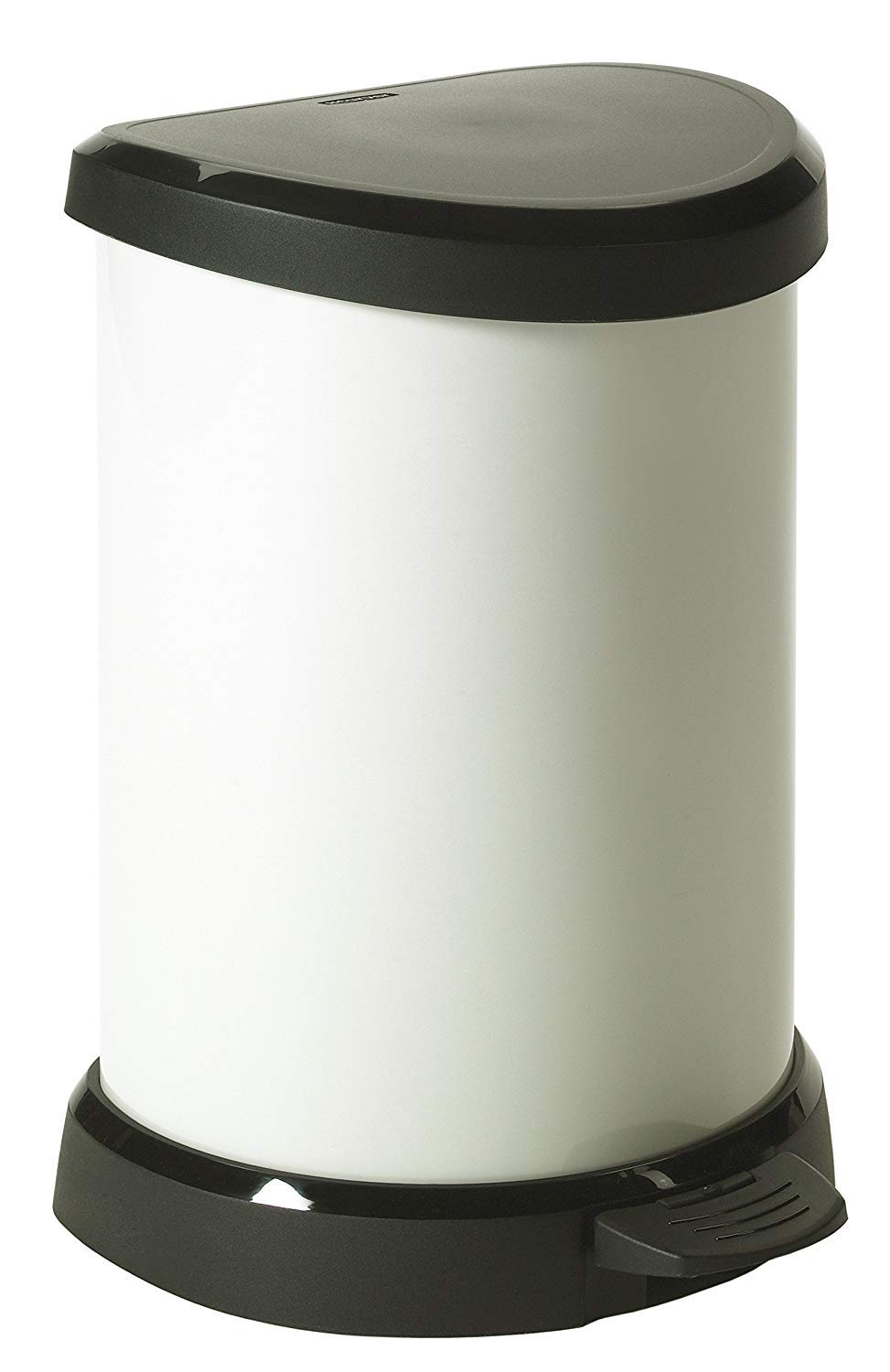 CURVER - Cubo de basura decorativo con pedal, 20 l, color crema: Amazon.es: Hogar