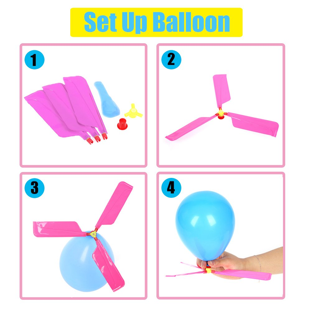 Qiwoo 5 Pack Flying Toy Parachute Balloon Helicopter Toys for Kids 4 Colors Mini No Tangle Throwing Flying Parachute Army Man Sports  Outdoor Play for Childrens Boys Girls Teens Party Favors by Qiwoo (Image #3)