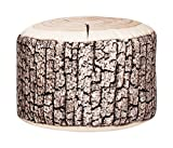 Gouchee Home Dotcom Collection Contemporary Wood Style Velvet Upholstered Round Pouf/Ottoman, Wood