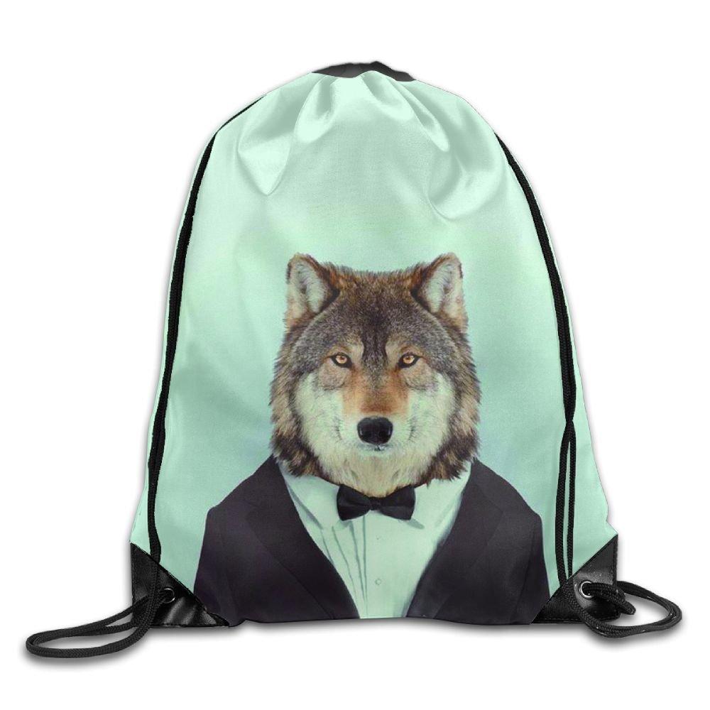 Mr.Fox Drawstring Backpack Rucksack Shoulder Bags Training Gym Sack For Man And Women