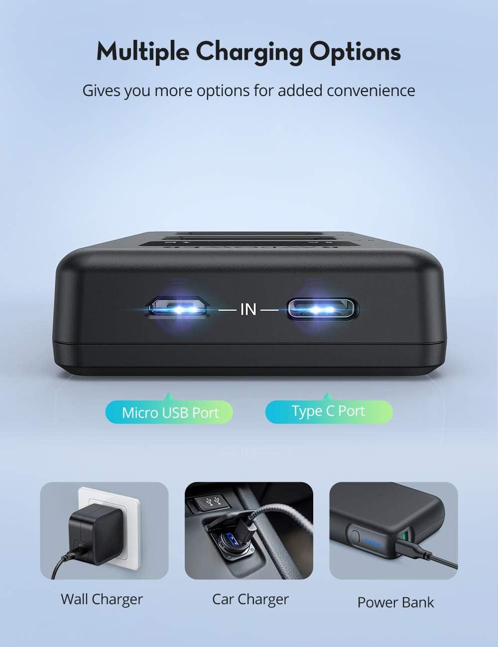 Ravpower Np Fw50 Akku Und Intelligente Led Usb Kamera