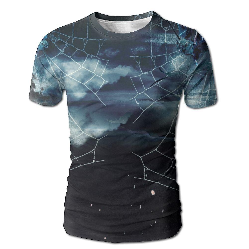 XIA WUEY Bat In Web Men'sCool Baseball Tshirt Graphic Tees Tops For Sports by XIA WUEY
