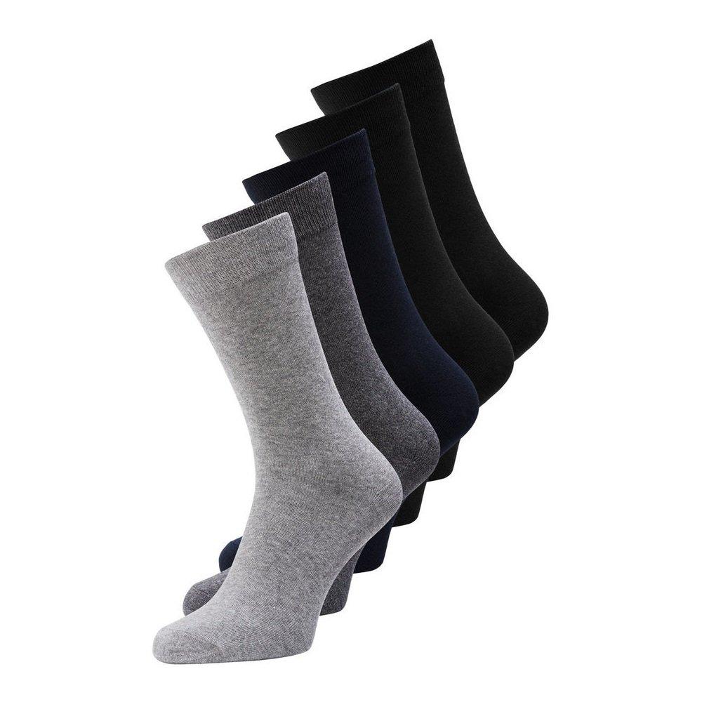 Jack & Jones Jens Socks 5Pack Noos Dark Grey Mel Jack jones