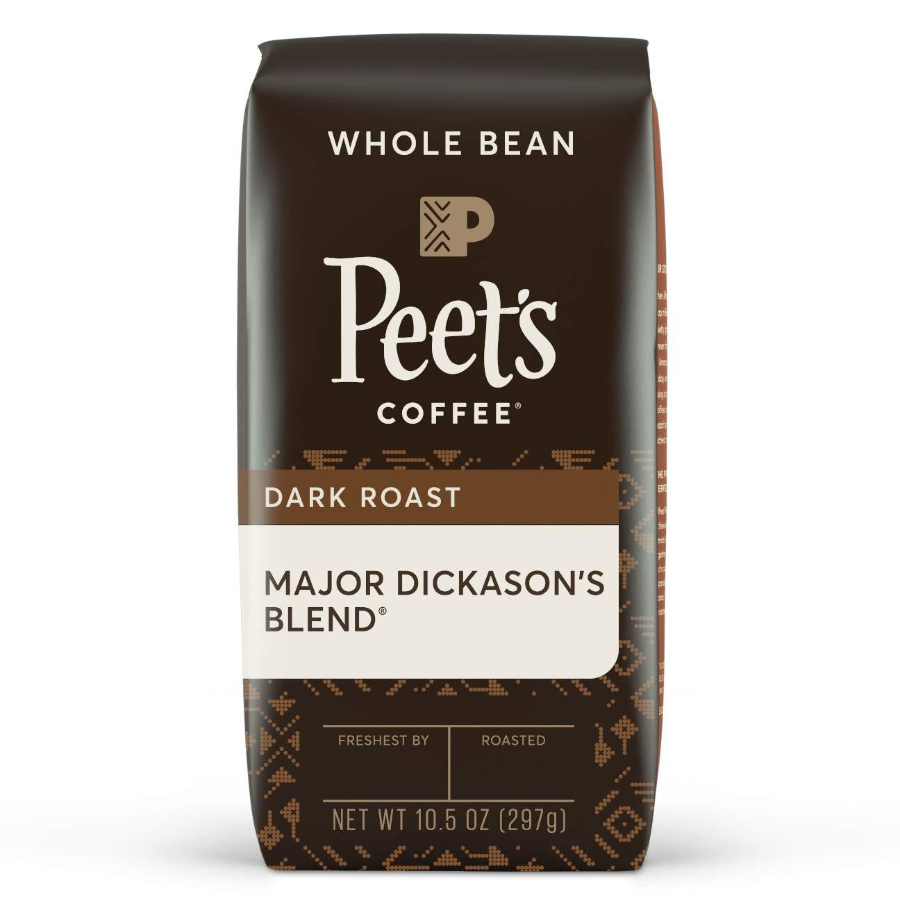 Peet's Coffee Major Dickason's Blend, Dark Roast Whole Bean Coffee, 10.5 oz