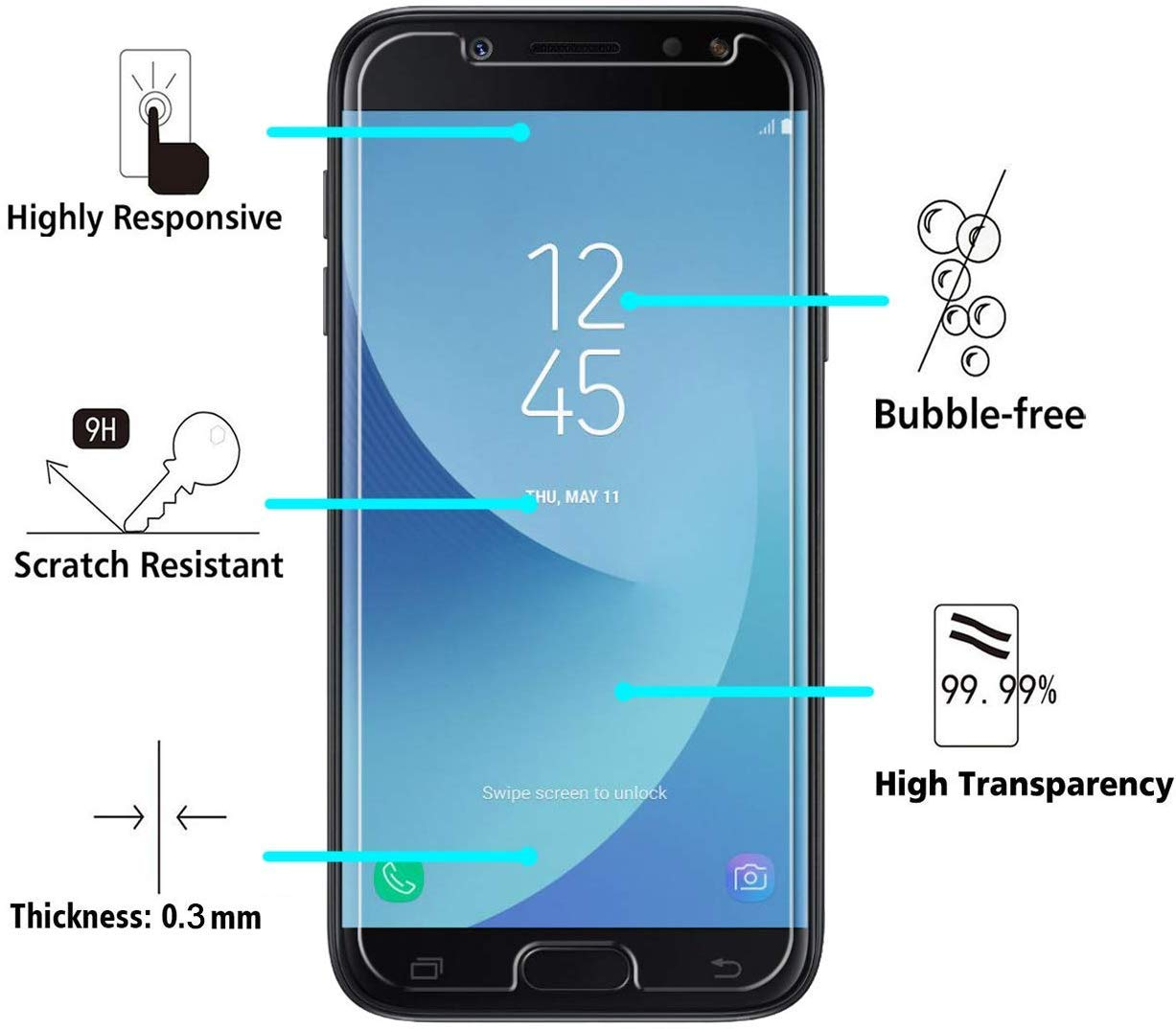 9H Hardness Bubble Free CUSKING HD Crystal Clear Tempered Glass Screen Protector for Samsung Galaxy M60S 1 Pack Screen Protector for Galaxy M60S