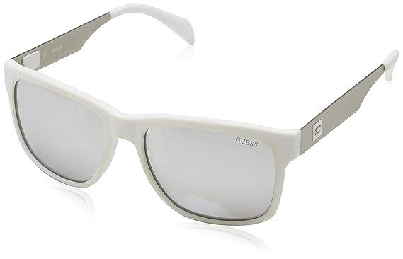 Guess Sonnenbrille Gu6760 21C 57 Gafas de sol, Blanco (Weiß ...