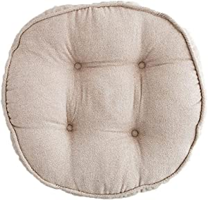 Elero Round Floor Pillow Meditation Chair Cushions Solid Thick TuftedReading Cushion Chair Pad Casual Seating for Adults & Kids Coffee Patio, Lawn & Garden