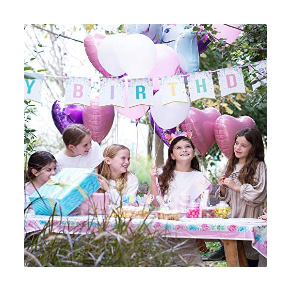 Unicorn Party Supplies set - 238 PCS - 18 Serves | Unicorn Decoration | Tableware | Favors | Balloons | Free Bonus 6
