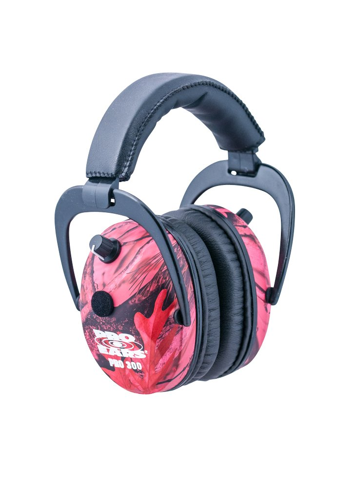Pro Ears - Predator  Gold - Hearing Protection and Amplfication - NRR 26 - Contoured Ear Muffs -  Pink Camo