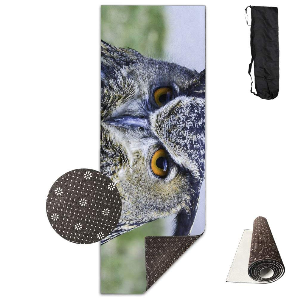 Eurasian Owl Yoga Mat  Advanced Yoga Mat  NonSlip Lining  Easy to Clean  LatexFree  Lightweight and Durable  Long 180 Width 61cm