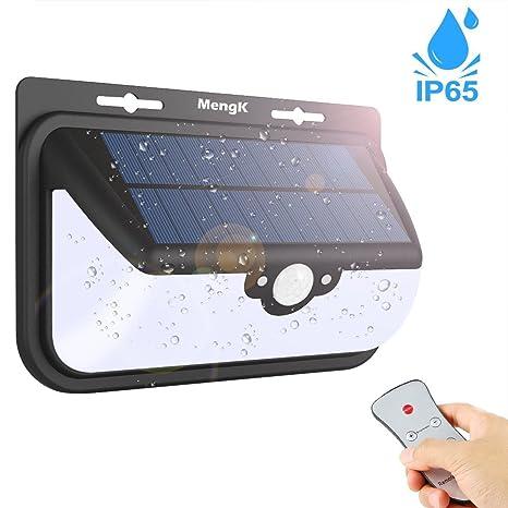 68 LEDs Luz Solar Para Exterior, MengK Súper Brillante Focos Solares, Luz de Sensor