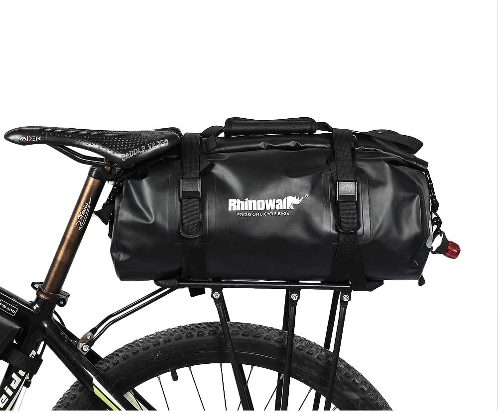 Wisdomx Rhinowalk 20L MTB Bolsa de Bicicleta Trasera Impermeable, Bolsas de alforjas Bike Rack Bag, Accesorio Profesional para Bicicleta: Amazon.es: Deportes y aire libre