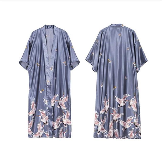 Meaeo Bata De Seda Sexy Albornoz Batas para Mujer Dormir Lencería Pijamas Noche Albornoces Kimono Home Wear: Amazon.es: Ropa y accesorios