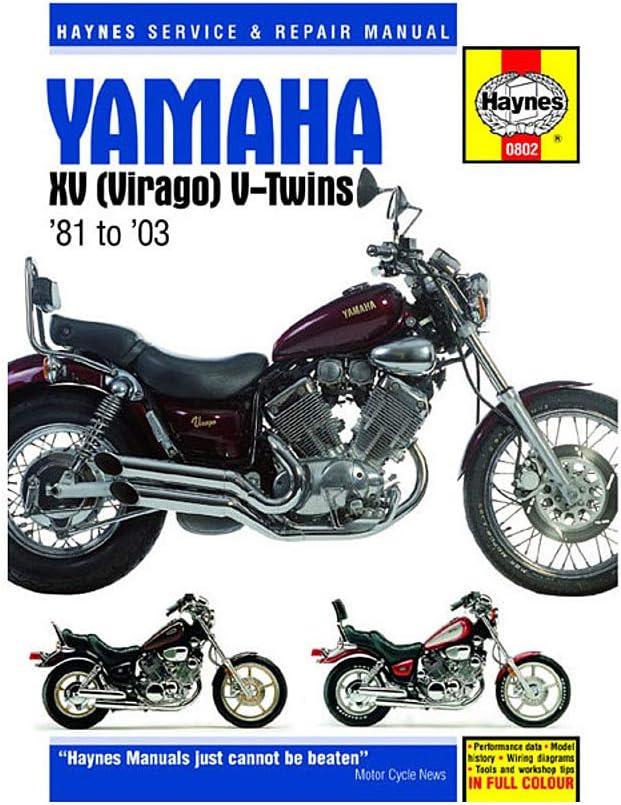 virago 920 wiring diagram amazon com haynes repair manual for 81 97 yamaha xv750 automotive  haynes repair manual for 81 97 yamaha