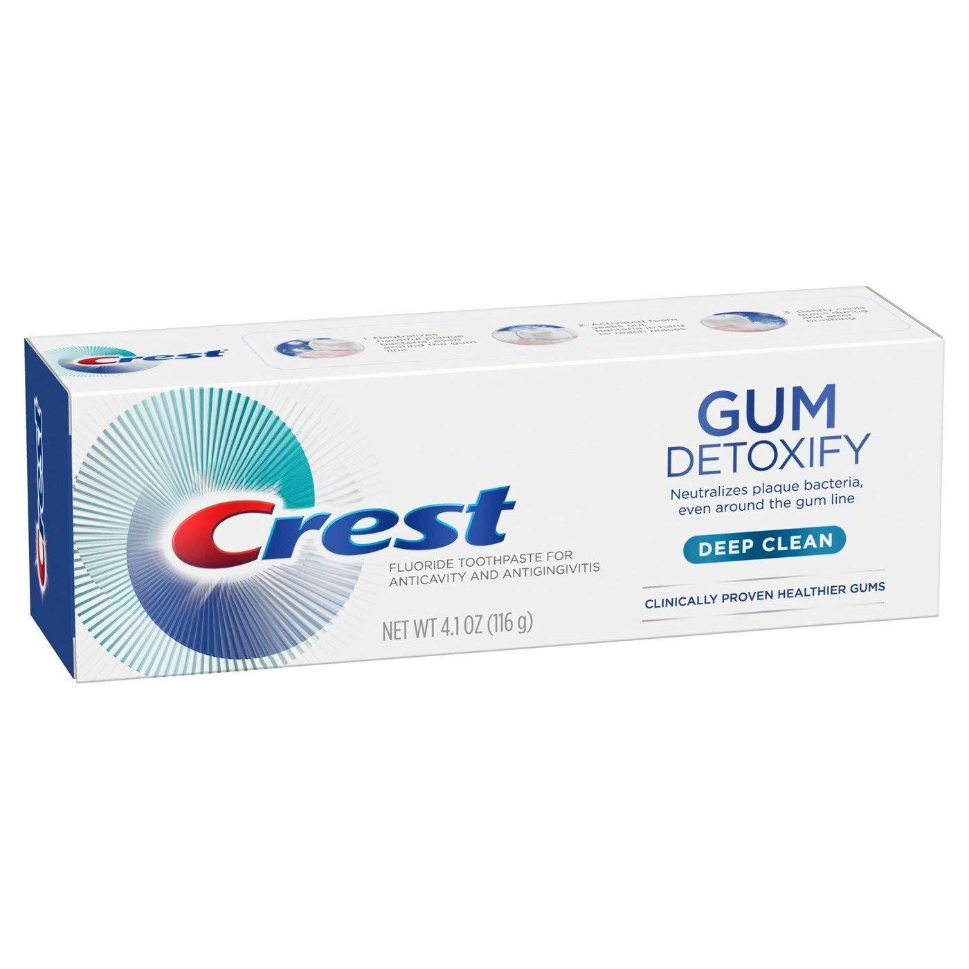 Crest Gum Detoxify Toothpaste, Deep Clean (4.1 oz, 4 pk.)