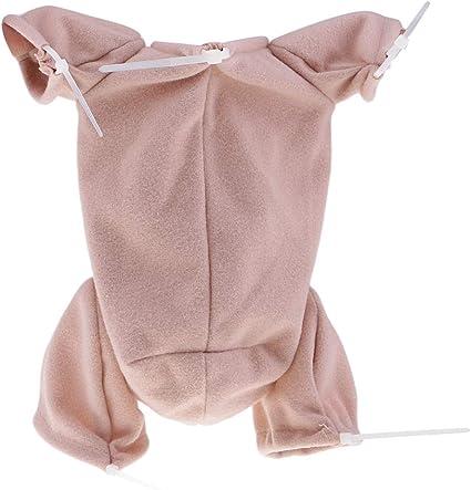 "MagiDeal Unpainted 18/"" Reborn Kits Newborn Baby Mold Cloth Body Mohair Hair"