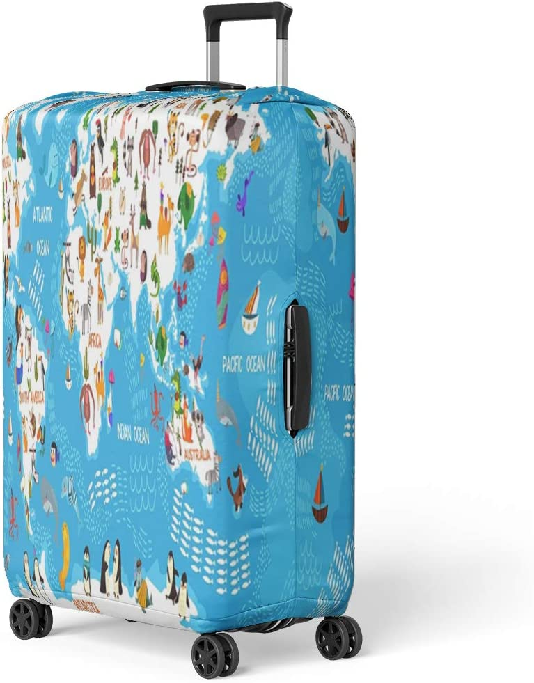 Pinbeam Luggage Cover Kraken the Giant Octopus Fantasy Creatures Collection Engraved Travel Suitcase Cover Protector Baggage Case Fits 22-24 inches