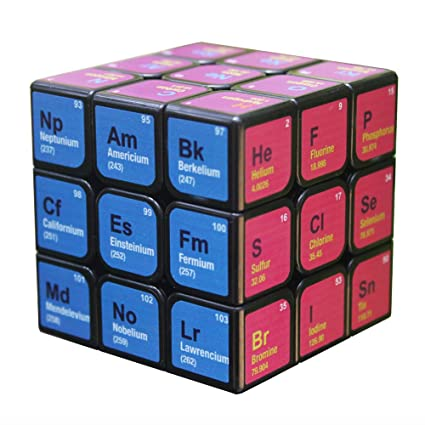 Alician 3x3x3 Magic Cube Periodic Table Printing Puzzles Toy for Kids