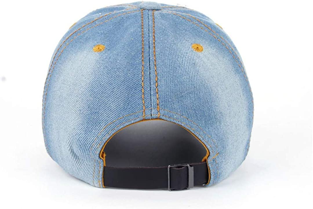 BAIELFES Bling Hat/&Cap Colorful Butterfly Denim Jean Baseball Cap