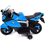 BM Style Kids Motorbike Ride On Car Rechargeable Battery Outdoor Toy-Blue
