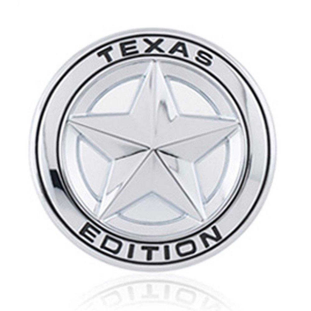 Dsycar 3d en m/étal Texas Edition /étoile Logo Autocollant de voiture Embl/ème badge autocollants pour voiture D/écoration DIY Accessoires