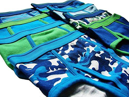 Trimfit Boys 100% Dinosaur Sports Camo Briefs 8-Pack Blue Multi Color S (4-6) by Trimfit (Image #1)