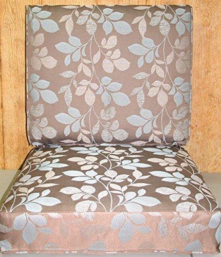 Buffaloe Creek Sales Outdoor Deep Seat Cushion Set ~ Blush Botanical Taupe 21x24x5 / 24x24x6.5NEW ()
