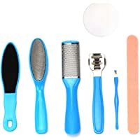 8 in 1 Professional Pedicure Foot File Stainless Steel Foot File Callus Remover Foot Rasp for Women Men Home Travel…