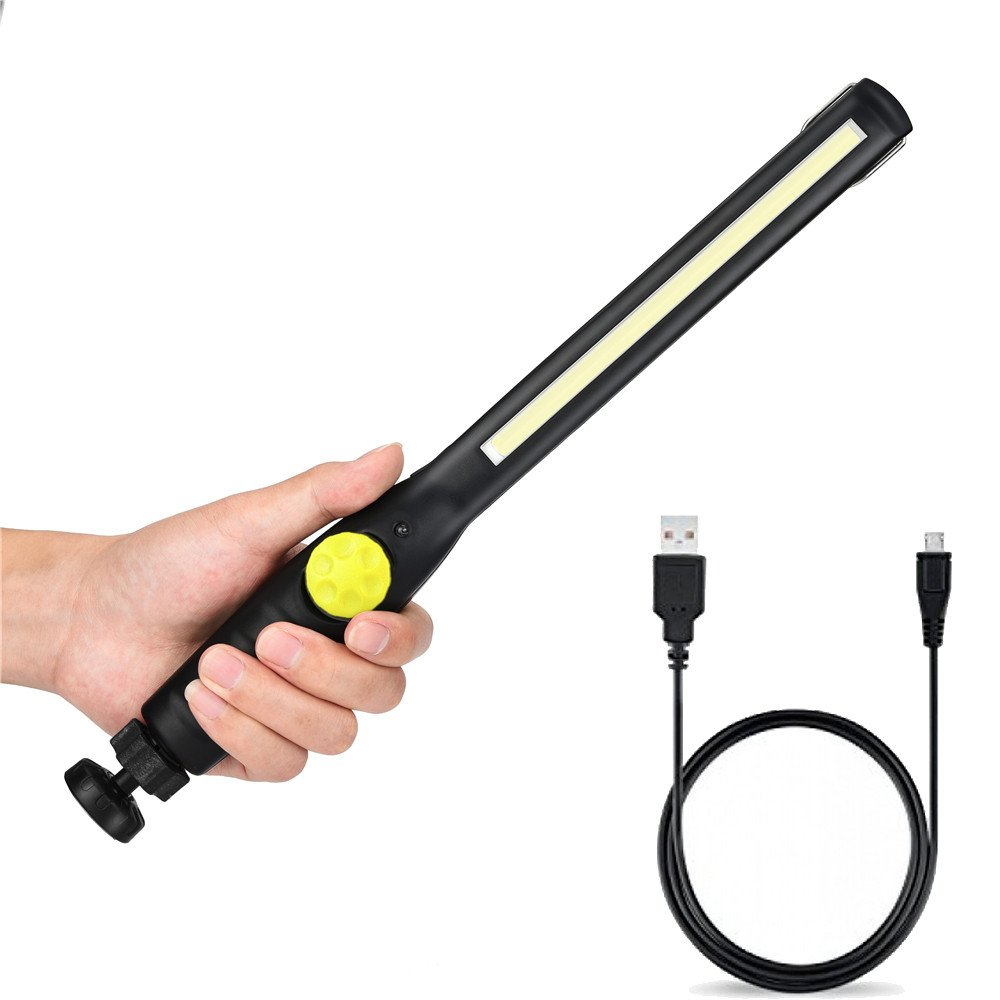 Dressffe New 410 Lumen Rechargeable COB LED Slim Work Light (Yellow)
