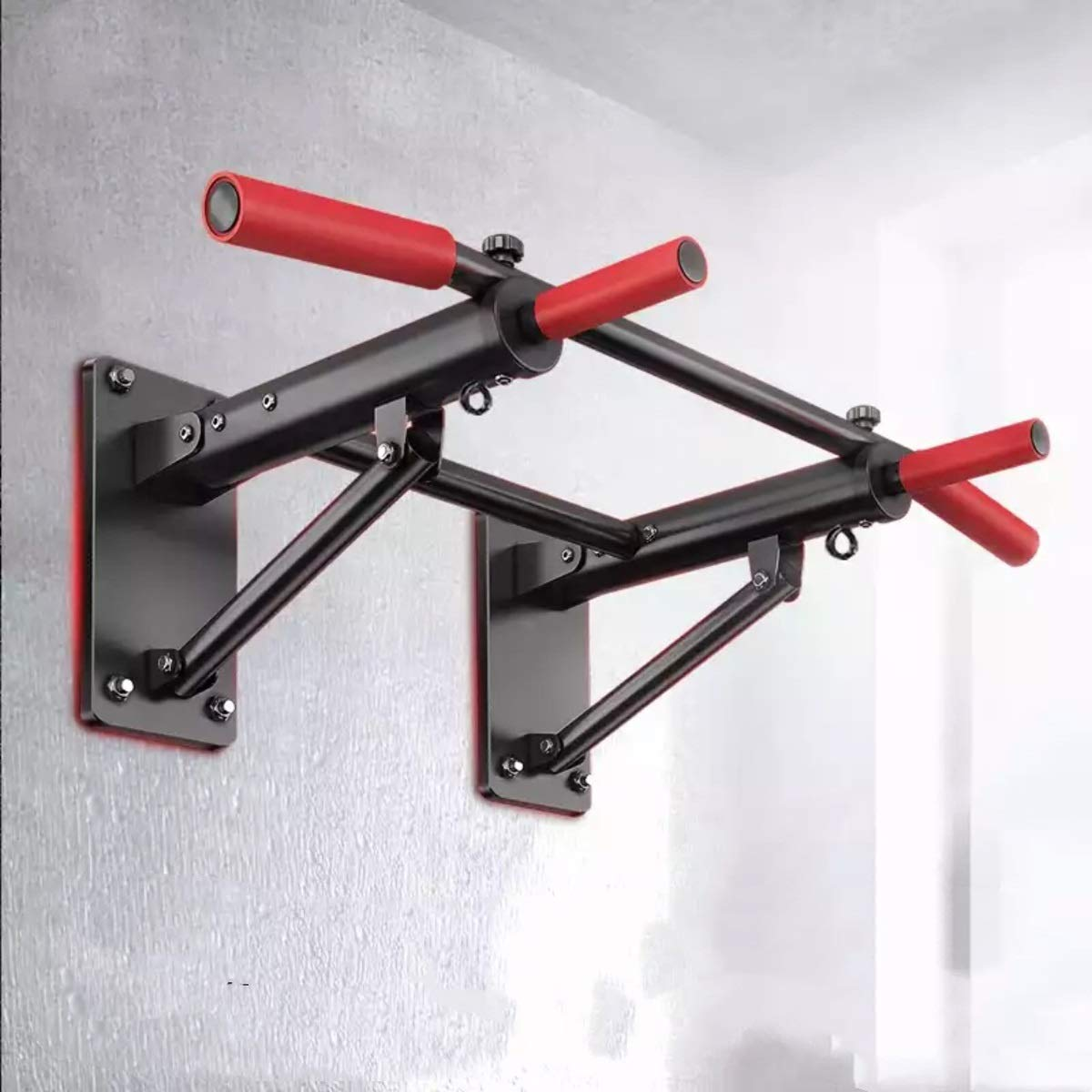 Multi-Function Wall Horizontal Bar Indoor Pull-up Device Foldable Wall Horizontal Bar Home Fitness Equipment by Baianju