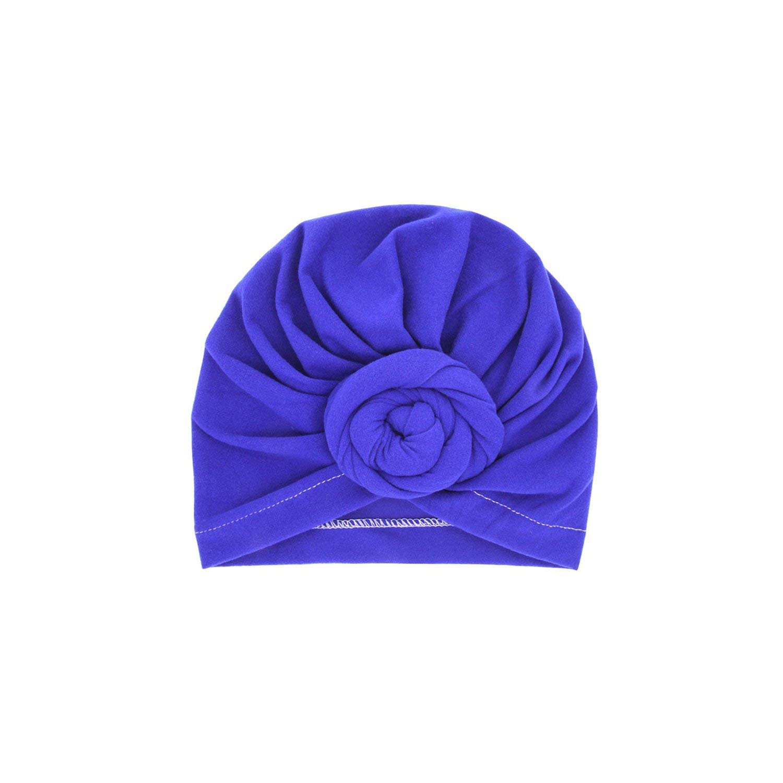 Baby Headband 12 Colors Baby Headband Beanie Cap Solid Rose Knot Turban Headbands for Girls Winter Warm Hear Warp Cotton Soft Elastic Headband,2005-10