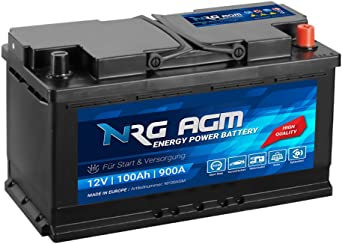 Nrg Agm Car Battery 100ah 900 A En 12 V 92ah Running Start Stop Plus Vrla Battery 95ah Elektronik