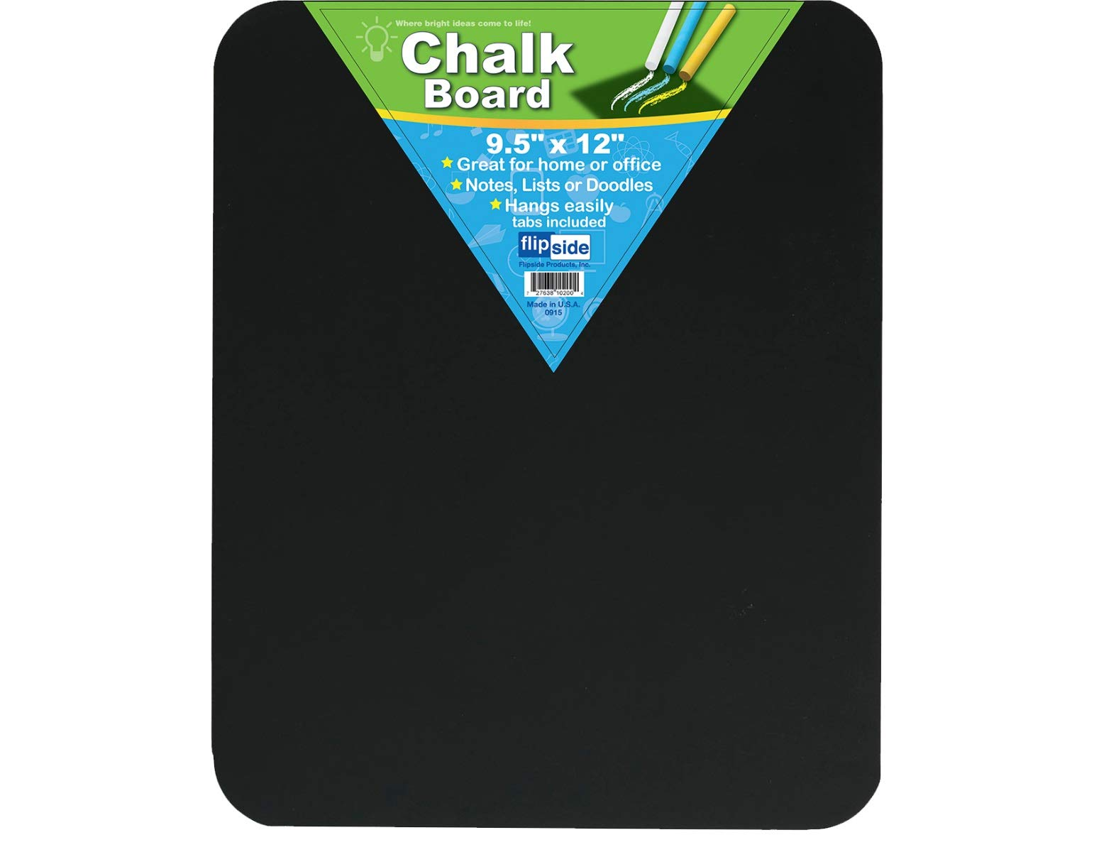 Pack of 12 Black Chalk Boards (9.5x12in) by Flipside (Image #1)