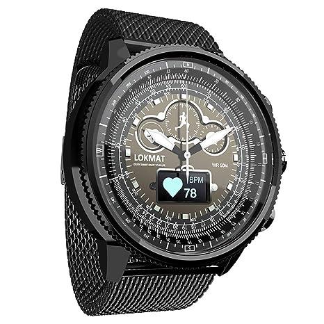 05dceb53e LOKMAT Smart Quartz Watch,Men Boys Smart Watch with Heart Rate,Sleeping, Pedometer