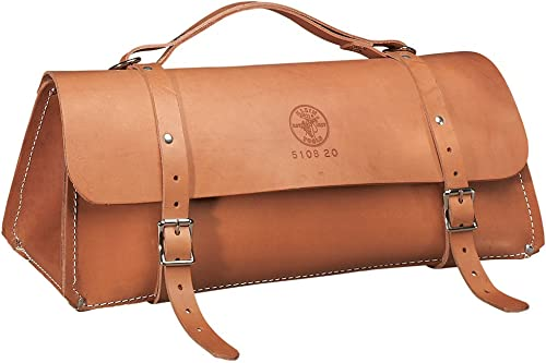Klein Tools 5108-24 Deluxe Leather Bag, 24-Inch