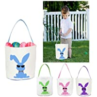 Easter Basket for Kids Easter Bunny Bag Easter Decorations (Blue)