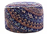 Mandala Indian Decor Cotton Ottoman Cover Round Pouffs Throw Seating Large Floor Pillow Meditation Footstool