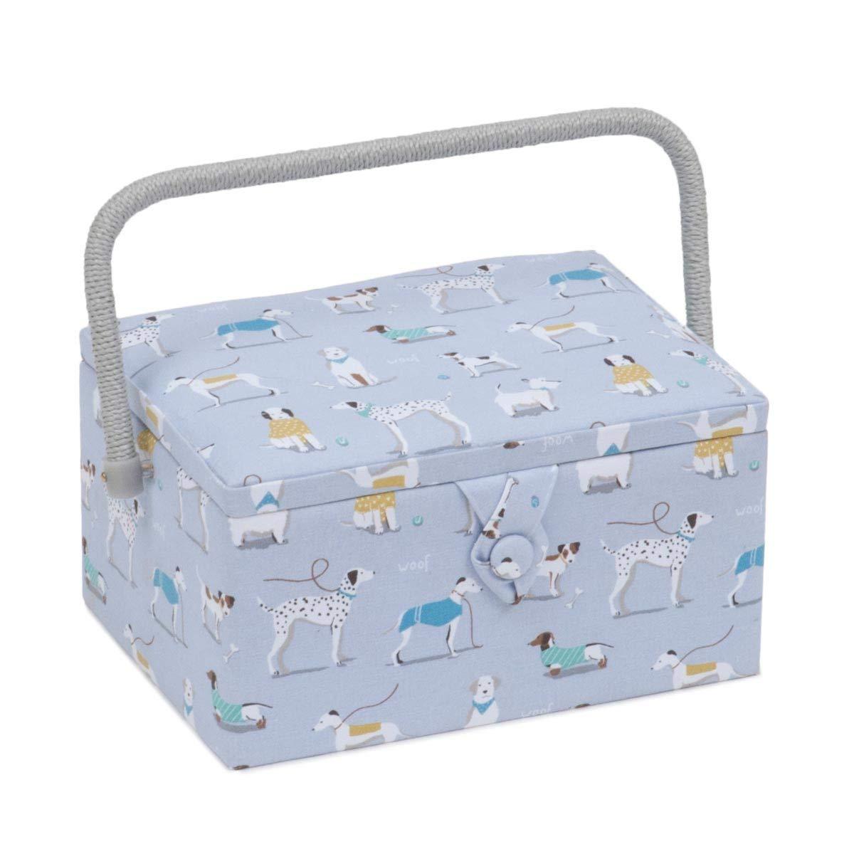 Medium Sewing Box / Organiser - A Dog's Life | HobbyGift MRM\446 | 19x26x14.5cm