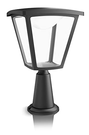 Philips myGarden Cottage - Lámpara de sobremuro para exteriores LED, luz blanca cálida, 4.5 W, equivalente a 37 W, IP44, color negro