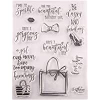 Happy Birthday Handbag Gifts sentiments Stamps Rubber Clear Stamp/Seal Scrapbook/Photo Album Decorative Card Making…