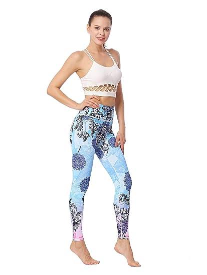 L.L.QYL Legging de Mujer Pantalones de Yoga Control de la ...